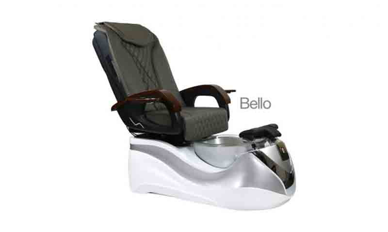 Bello – Pedicure Spa Chair – White Silver